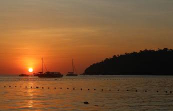 Sunset on the island of Koh Lipe, Thailand